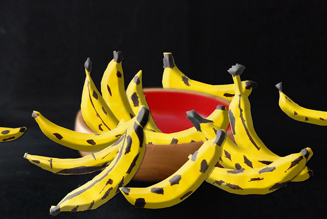 Bananen-Schale gelb