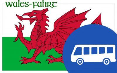 Letzte Informationen zur Walesfahrt 2018
