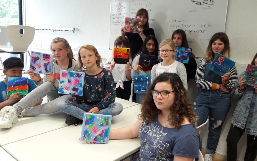 Workshop im Kunstatelier von Frau Freymeyer